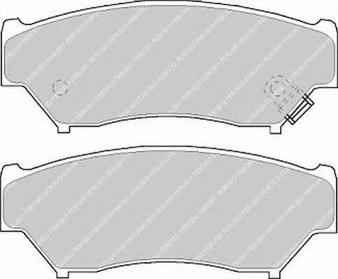 FERODO (НОМЕР: FDB1020) Комплект тормозных колодок, дисковый тормоз