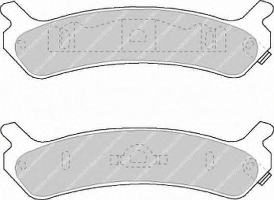 FERODO (НОМЕР: FDB1033) Комплект тормозных колодок, дисковый тормоз