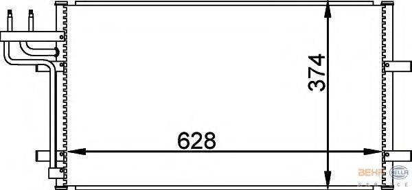 Конденсатор, кондиционер BEHR HELLA SERVICE 8FC 351 301-731