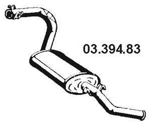 Глушитель выхлопных газов конечный EBERSPÄCHER 03.394.83