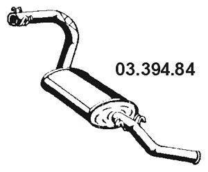 Глушитель выхлопных газов конечный EBERSPÄCHER 03.394.84