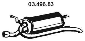Глушитель выхлопных газов конечный EBERSPÄCHER 03.496.83