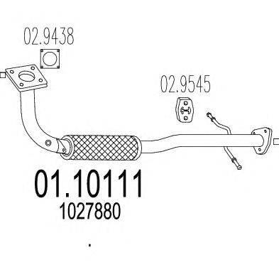 Труба выхлопного газа MTS 01.10111