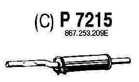 Средний глушитель выхлопных газов FENNO P7215