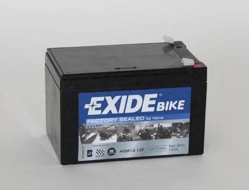 Стартерная аккумуляторная батарея EXIDE AGM12-12F