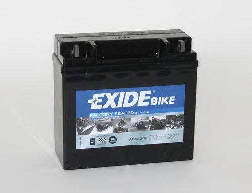 Стартерная аккумуляторная батарея EXIDE AGM12-18