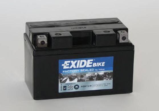 Стартерная аккумуляторная батарея EXIDE AGM12-8