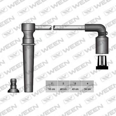 Комплект проводов зажигания WEEN 110-4962
