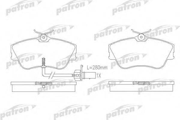 Комплект тормозных колодок, дисковый тормоз PATRON PBP1519