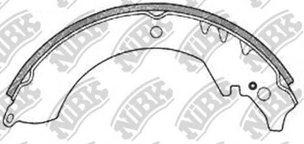Комплект тормозных колодок NiBK FN0022
