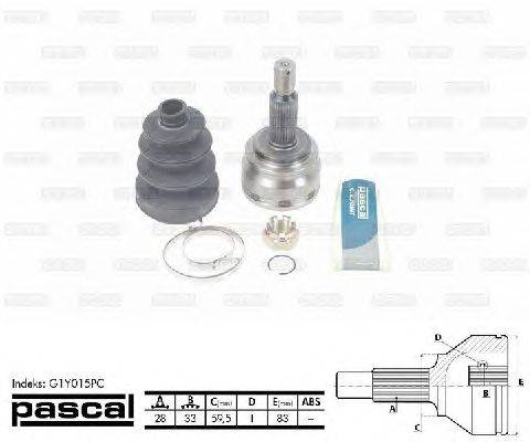 PASCAL (НОМЕР: G1Y015PC) Шарнирный комплект, приводной вал
