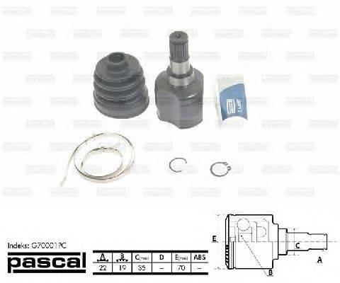 PASCAL (НОМЕР: G70001PC) Шарнирный комплект, приводной вал