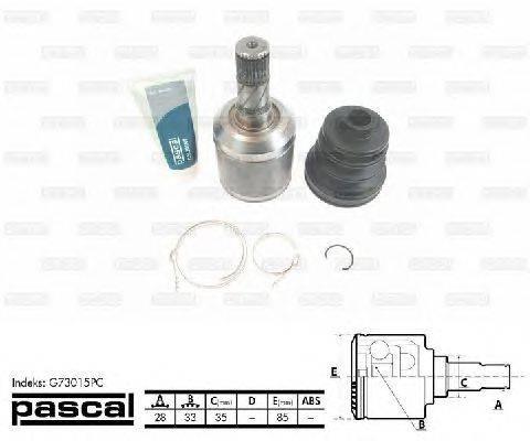 PASCAL (НОМЕР: G73015PC) Шарнирный комплект, приводной вал