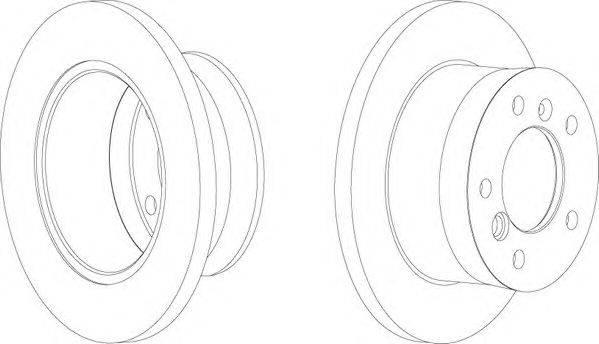 FERODO (НОМЕР: FCR229A) Тормозной диск