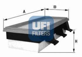 UFI (НОМЕР: 30.108.00) Воздушный фильтр