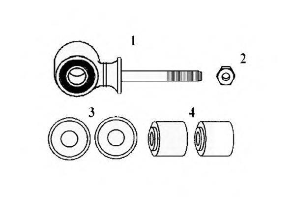 Ремкомплект, соединительная тяга стабилизатора OCAP 0180470-K