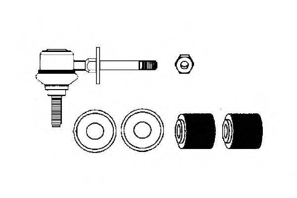 Ремкомплект, соединительная тяга стабилизатора OCAP 0180043-K