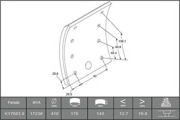 Комплект тормозных башмаков, барабанные тормоза BERAL 1723817000015498