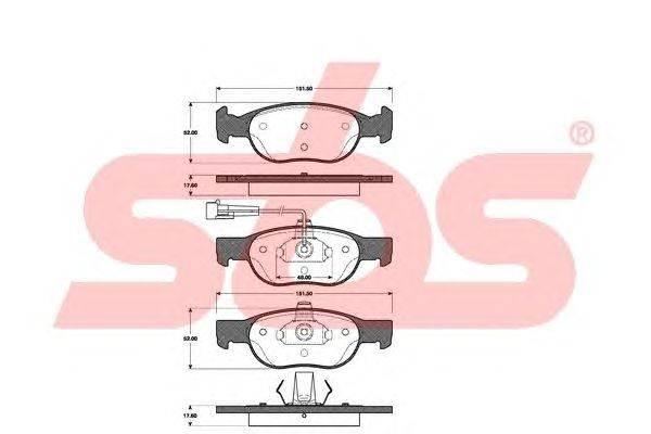 sbs (НОМЕР: 1501222339) Комплект тормозных колодок, дисковый тормоз