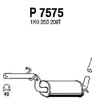 Средний глушитель выхлопных газов FENNO P7575