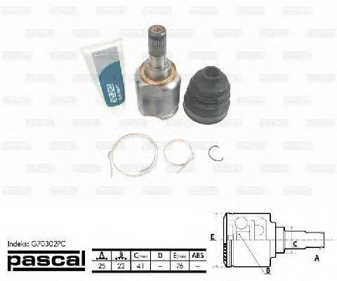 PASCAL (НОМЕР: G70302PC) Шарнирный комплект, приводной вал