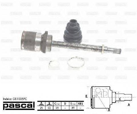 PASCAL (НОМЕР: G81005PC) Шарнирный комплект, приводной вал