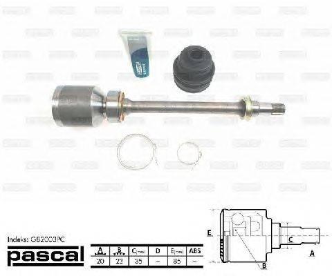 PASCAL (НОМЕР: G82003PC) Шарнирный комплект, приводной вал