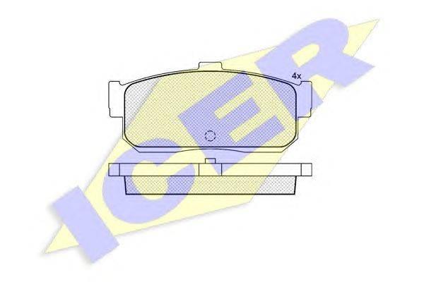 Комплект тормозных колодок, дисковый тормоз ICER 140876