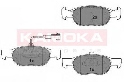 KAMOKA (НОМЕР: 1012080) Комплект тормозных колодок, дисковый тормоз