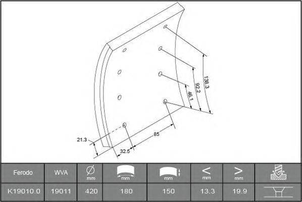 Комплект тормозных башмаков, барабанные тормоза BERAL 1901020606016166