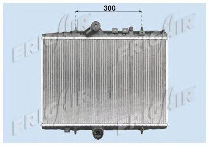 Радиатор, охлаждение двигателя FRIGAIR 0103.3081