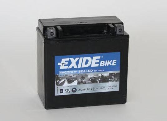Стартерная аккумуляторная батарея EXIDE AGM12-12