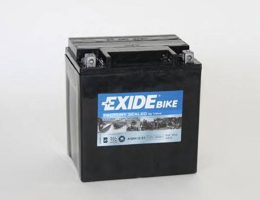 Стартерная аккумуляторная батарея EXIDE AGM12-31