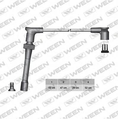 Комплект проводов зажигания WEEN 110-4123