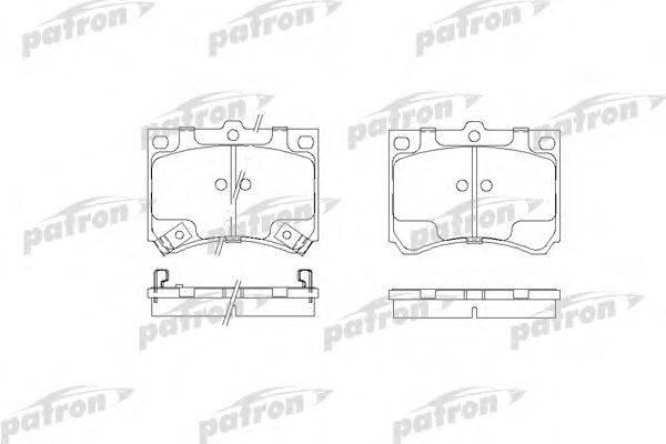 Комплект тормозных колодок, дисковый тормоз PATRON PBP714