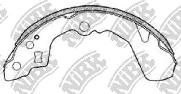 Комплект тормозных колодок NiBK FN0032