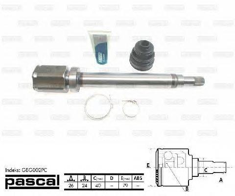 PASCAL (НОМЕР: G8G002PC) Шарнирный комплект, приводной вал