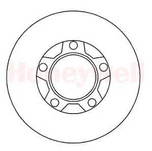 Тормозной диск BENDIX 561109B