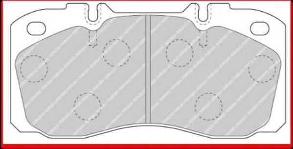 FERODO (НОМЕР: FCV1126) Комплект тормозных колодок, дисковый тормоз