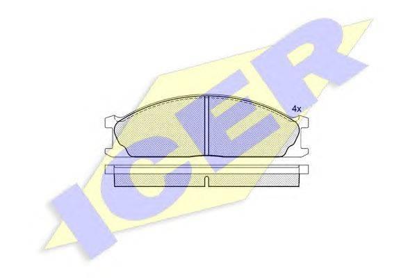 Комплект тормозных колодок, дисковый тормоз ICER 140884