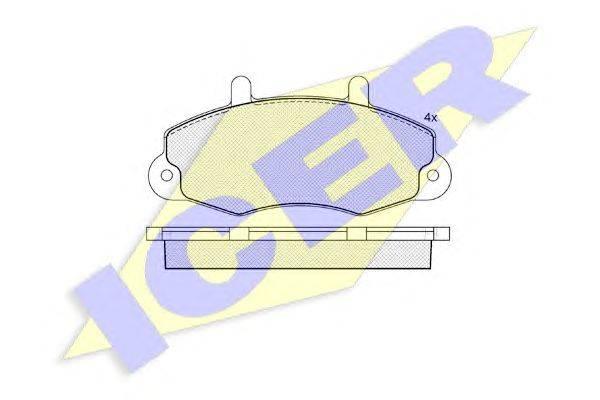 Комплект тормозных колодок, дисковый тормоз ICER 140896