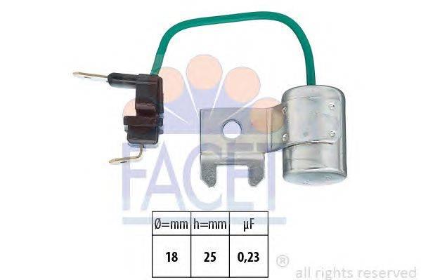 Конденсатор, система зажигания FACET 0.0179/95