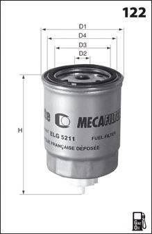Топливный фильтр MECAFILTER ELG5214