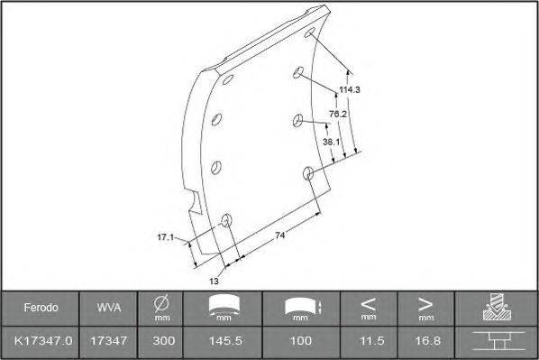 Комплект тормозных башмаков, барабанные тормоза BERAL 1734718000015618