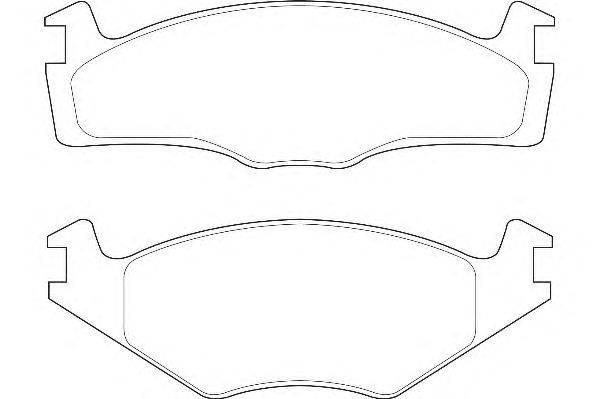Комплект тормозных колодок, дисковый тормоз DURON DBP391072