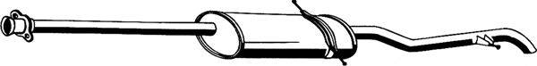 Глушитель выхлопных газов конечный ASMET 01.021