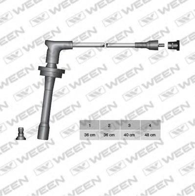 Комплект проводов зажигания WEEN 110-4063