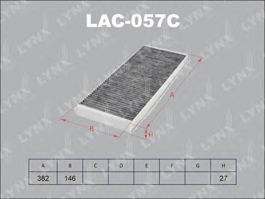 Фильтр, воздух во внутренном пространстве LYNXauto LAC057C