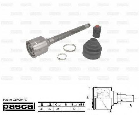 PASCAL (НОМЕР: G8F004PC) Шарнирный комплект, приводной вал