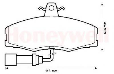 Комплект тормозных колодок, дисковый тормоз BENDIX 571308B